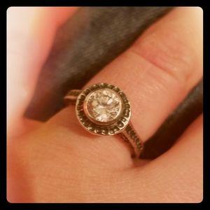 Silpada bling ring Sz:6 silver